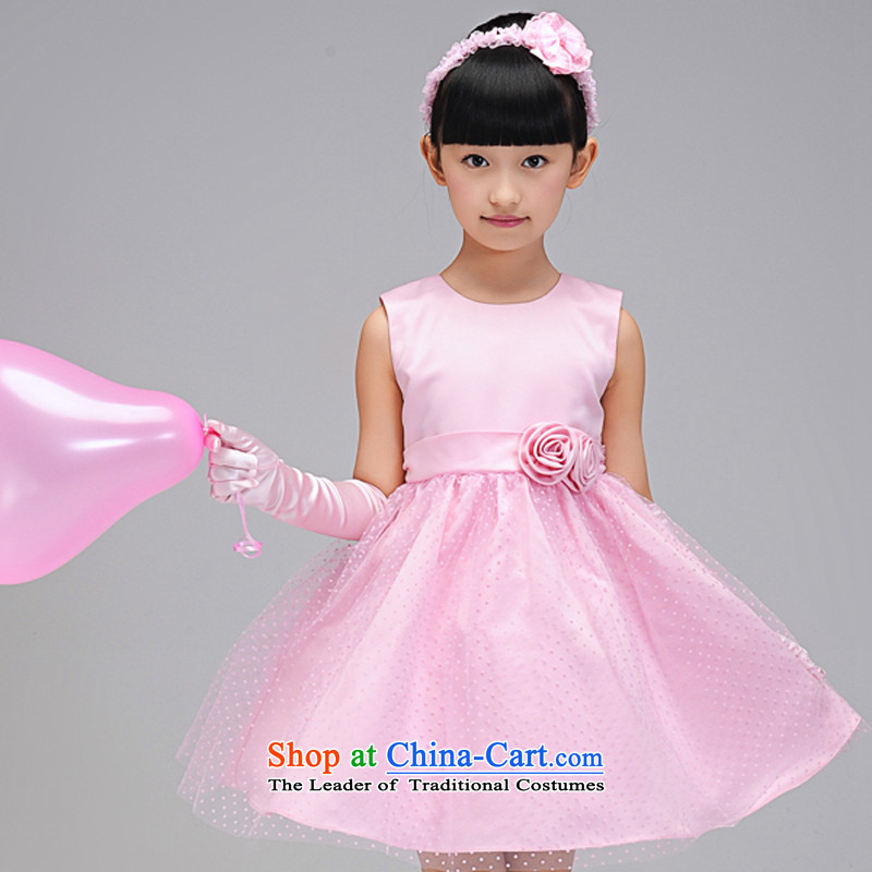 Each child dress flower girl Ngai dress children wedding dress Princess Margaret Flower Girls wedding dresses bon bon skirts birthday pink 130