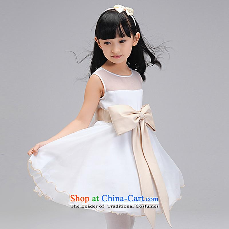 Each Princess skirt girls Ngai girl children's apparel will Flower Girls dress聽2015 Summer girls princess skirt White聽130