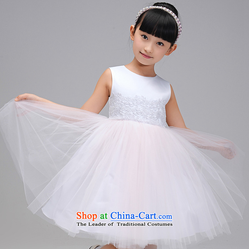 Each Princess skirt girls Ngai girl children's apparel will Flower Girls dress 2015 Summer girls princess skirt White 130