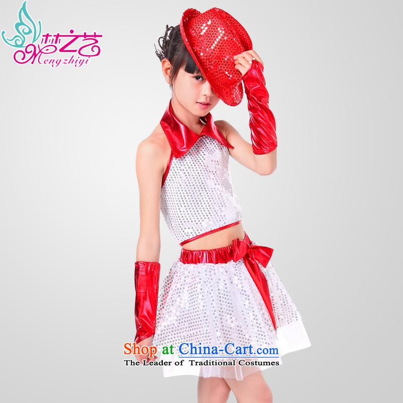 61. Children will jazz dance jazz dance serving boy street dance show dance performances to serve children wearing girls 0291 Rear Women Red160