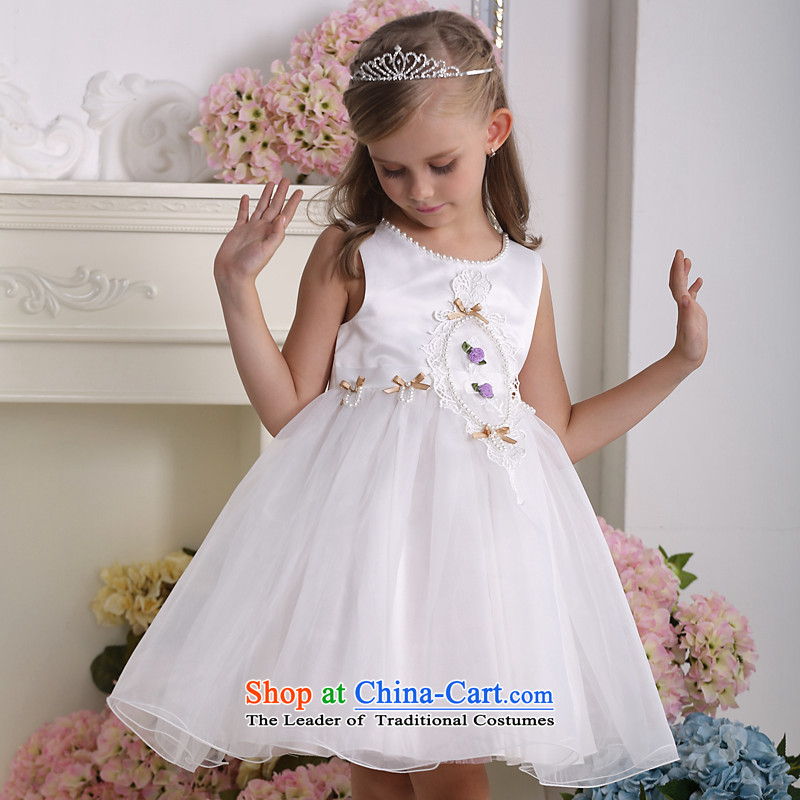 Kawasaki Judy flower QIRAFA girls dresses girls dress children dress girls princess skirt Summer Children skirt at coordinates 5139 m White 140 code