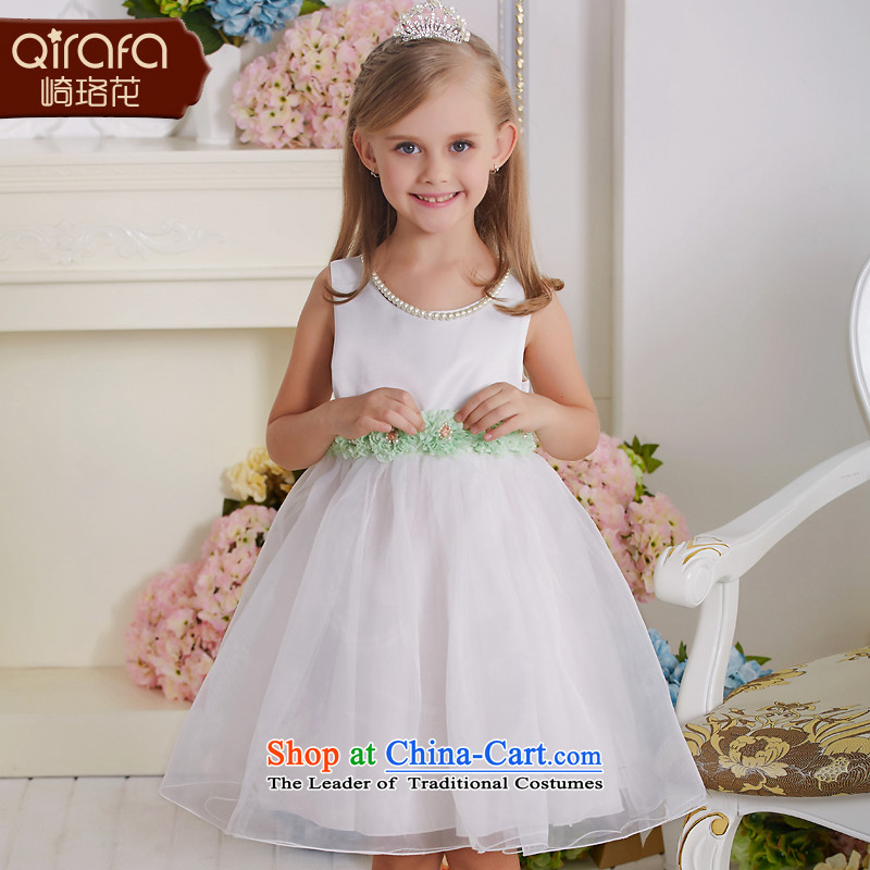 Yamazaki said Princess skirts QIRAFA Flower Girls dress clothes summer 2015, summer skirt new skirts 5134 Blue 150 code