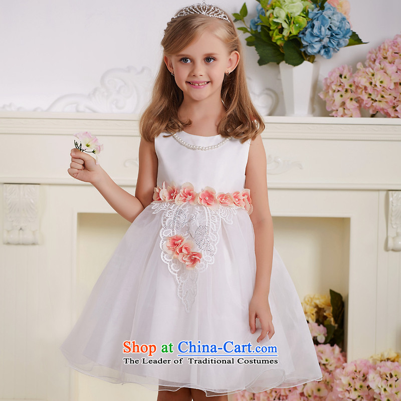 The Lhoba nationality QIRAFA children spend Miyazaki Princess skirt summer girls dress girls princess skirt princess skirt girls dress 5130 m White 150 code
