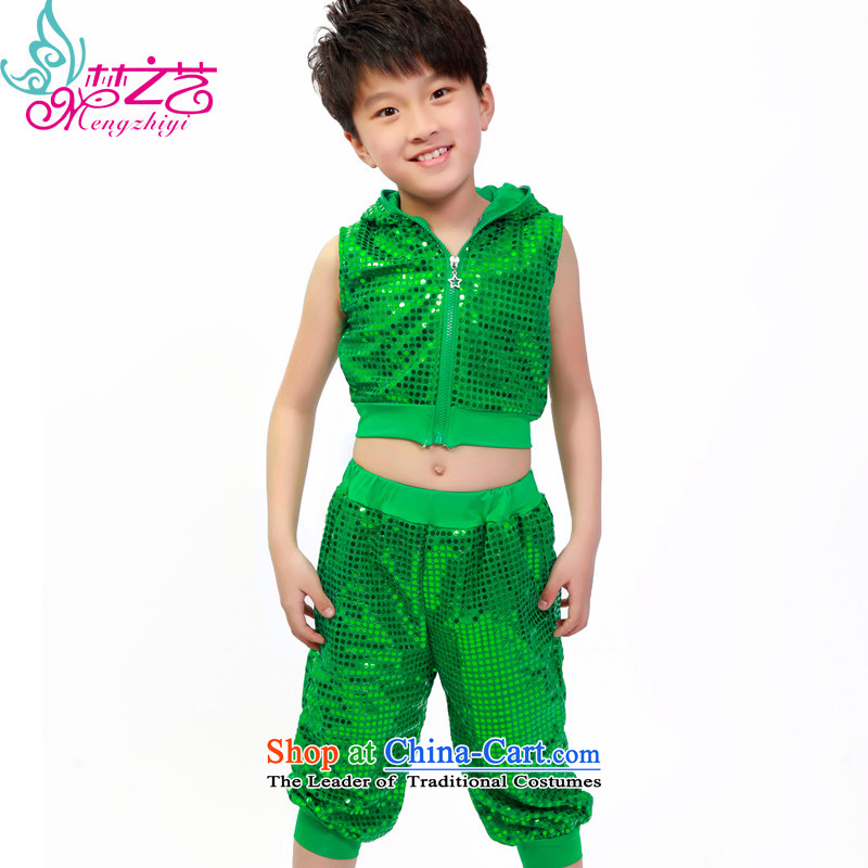 The Dream of the child will celebrate arts dance wearing male child care jazz dancers hip hop dance Street Girls Boys Green 150