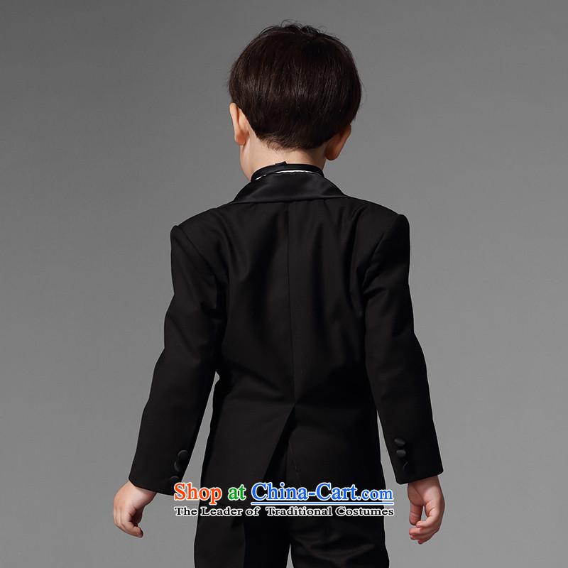 Eyas boy children suits CUHK girls suit dress Flower Girls Boys black autumn new Korean Black 5 piece set150,EYAS,,, shopping on the Internet