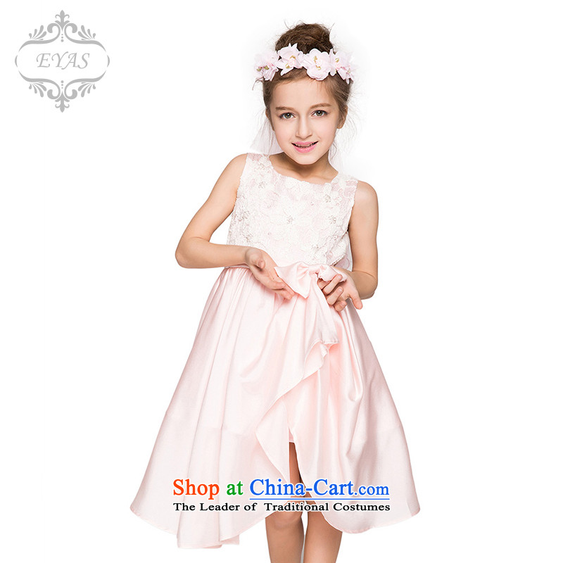 The girl child dresses Summer 2015 new children's wear skirts Princess Bow Tie celebrate Children's Day dress performances bon bon skirt White 150