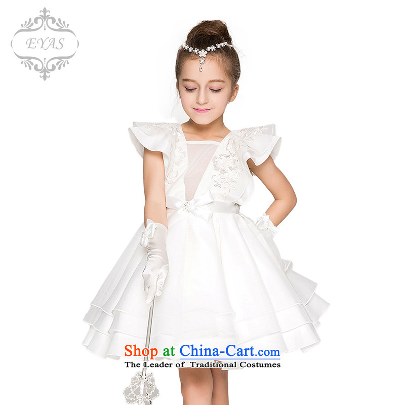 Eyas聽girls princess skirt spring wedding dresses skirt Flower Girls dresses princess children bon bon skirt summer children's wear white聽140