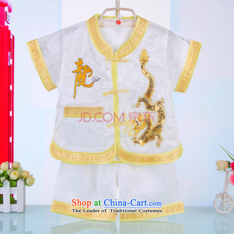 15 new boys under the age of a gift pack for summer baby Tang children of ethnic Chinese clothing birthday dress 4671 White90