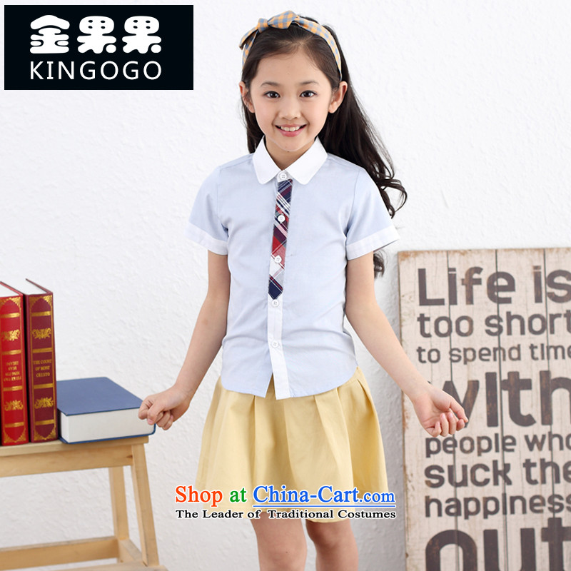 Chirldren Clothes Summer 61 boys and girls of school uniforms to children will serve ably conduct primary and middle school students on men and women serving kit 11002 White 160