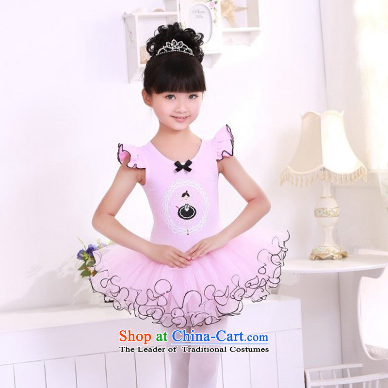 Children dance, ballet skirt summer clothing girls dancing skirt will spring length of national cuff exercise clothing rose 150