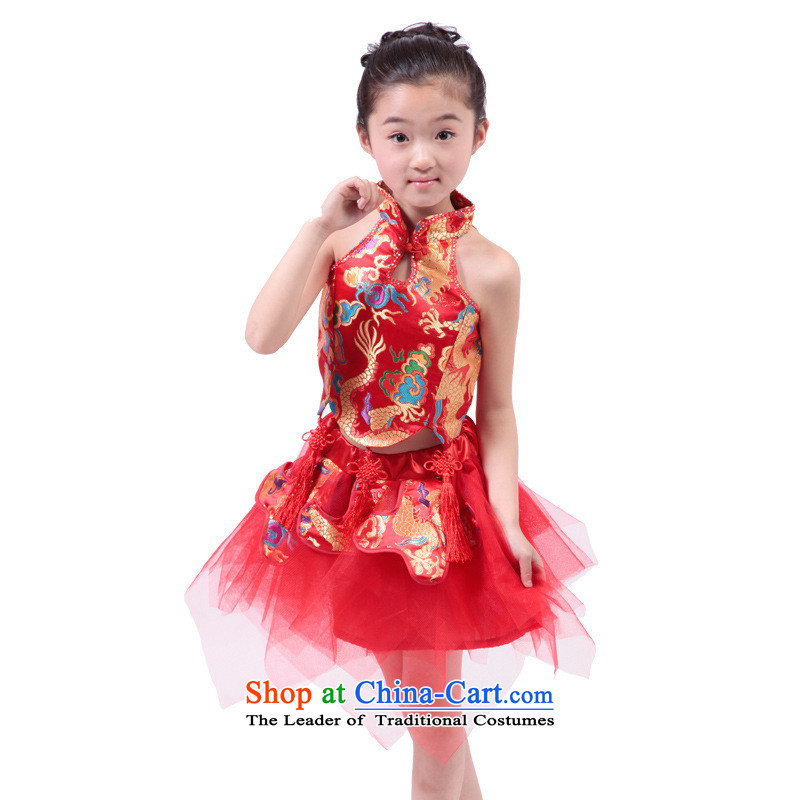 2015 new products 61 children Tang dynasty princess skirt children dress early childhood guzheng dance performances to Red 140