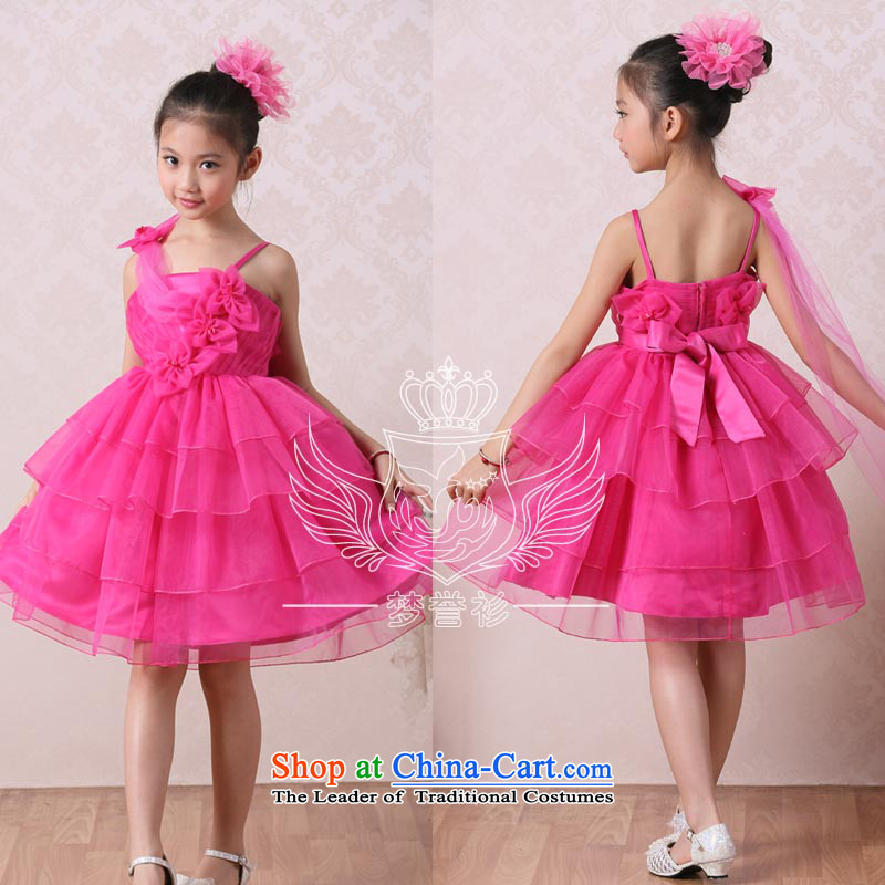 Goodwill Visit to the Netherlands children bon bon skirt princess skirt cotton spring, summer, autumn and winter new child costumes dance performances piano singing girl children's wear skirts dress in red in the large red140cm34 code around 922.74760-65