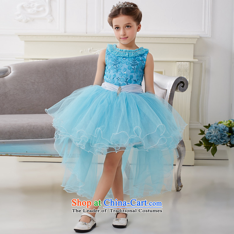The Lhoba nationality QIRAFA children spend Miyazaki Princess skirt girls dresses summer princess skirt girls dress skirt girls princess skirt 5005 Blue 130 code