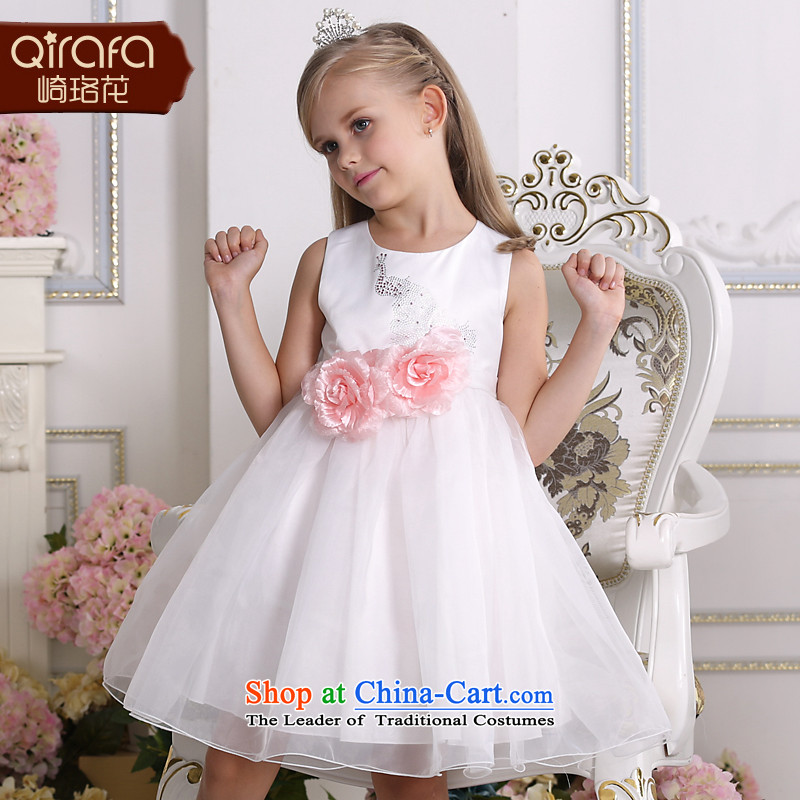 Yamazaki said Princess skirts QIRAFA Flower Girls dress girls dresses girls princess skirt for summer 5137 girls dress skirt m White 150 code