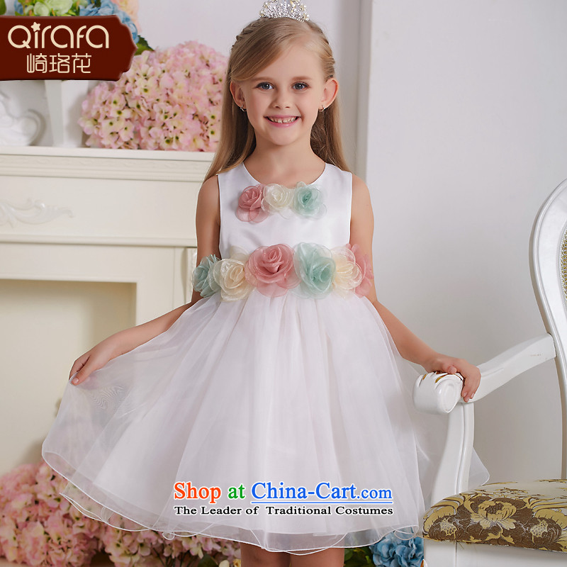 Kawasaki Judy spend QIRAFA children dress children princess skirt girls dresses girls dress girls princess skirt Summer 5135 m White 150 code