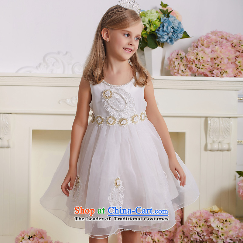 Kawasaki Judy spend QIRAFA children dress children princess skirt girls dresses girls dress girls princess skirt Summer 5131 m White 150 code
