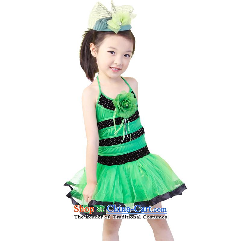 61. Children will girls 2015 new early childhood dance wearing green120