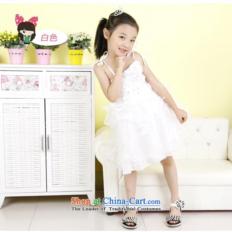 Children Princess skirt dress girls summer will dress skirt bon bon skirt straps skirt flowers skirt White120