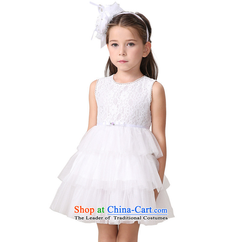 The new summer MIQIDIDA2015 CUHK CHILDREN'S APPAREL vest cake skirts skirts girls princess dresses pink聽160
