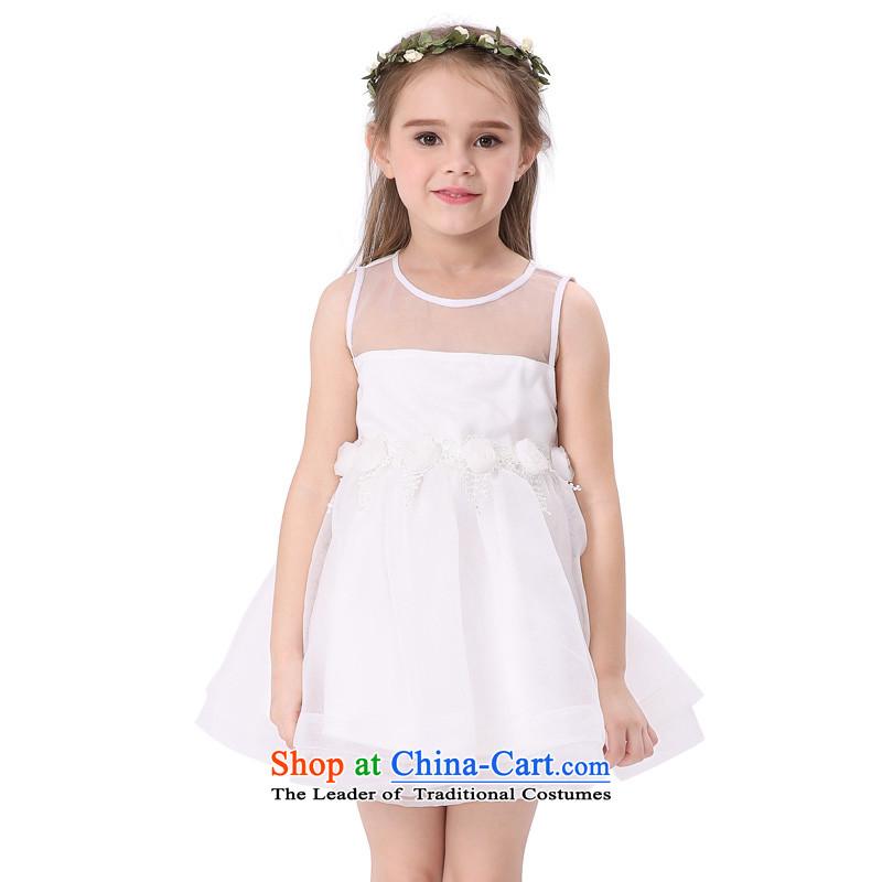The new summer MIQIDIDA2015 vest skirts of children's wear dresses children princess OSCE root yarn girls dresses White160