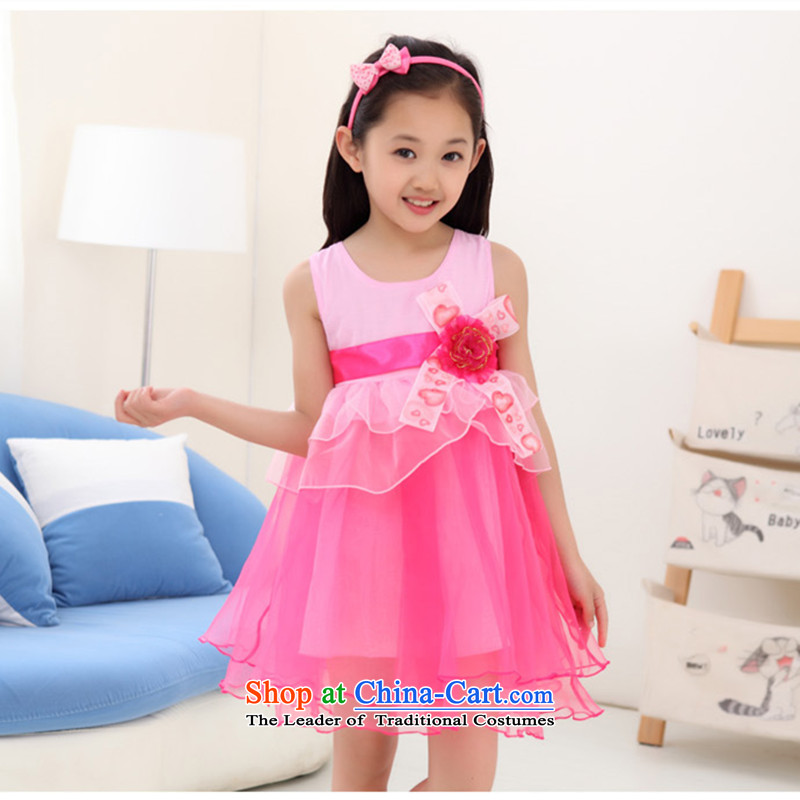 Sau croch broadcast girls dresses summer CUHK child 61 student performances skirt cake dress princess skirt special promotions, Bora Bora style rose聽160 Height 150