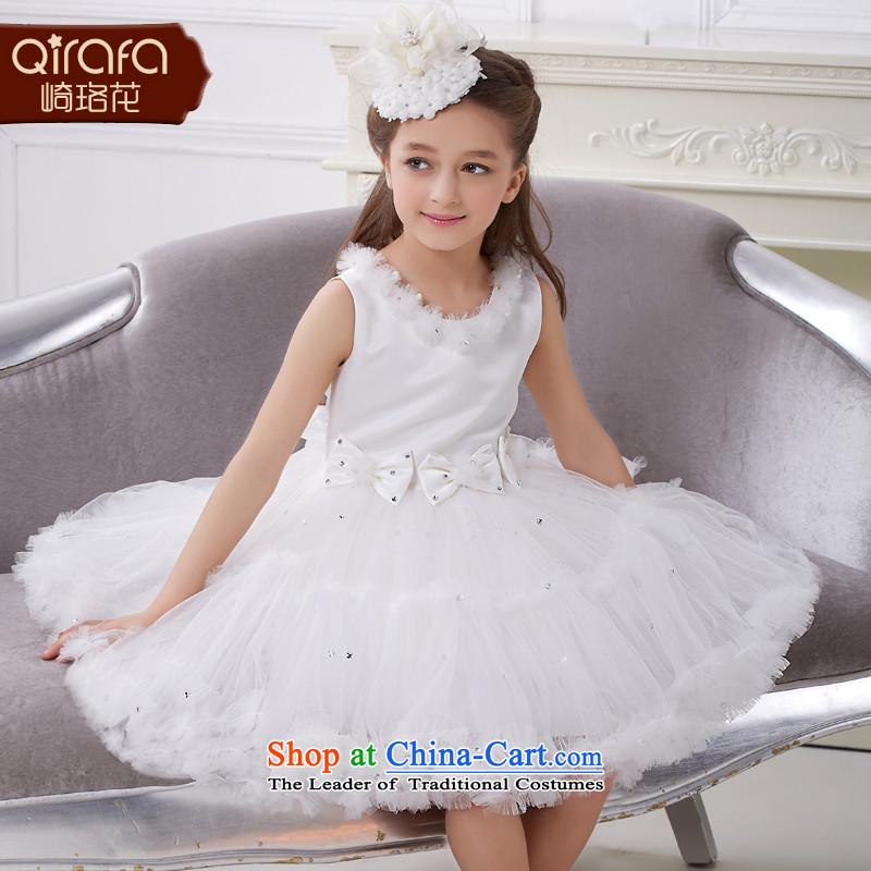 Kawasaki Judy flower QIRAFA girls dress skirt girls dresses summer princess skirt girls dress girls princess skirt5038 White130 code