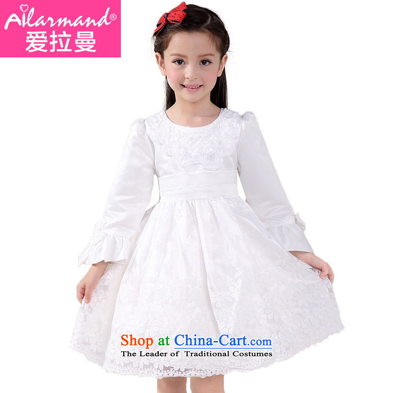 Love Rahman children's apparel Flower Girls dress princess skirt girls bon bon apron skirt performances showing the spring and summer gown White 130