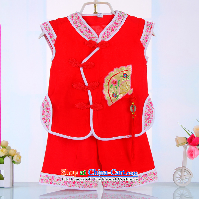 Tang Dynasty baby years cheongsam dress shorts dress skirts + girls children hundreds amanome dress infant Tang dynasty 4511 Red 90cm