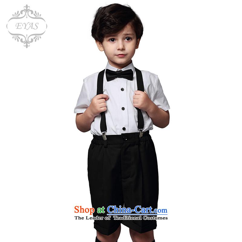 61 Korean shirt EYAS strap kit children choir performances service students Flower Girls dress boy Black150