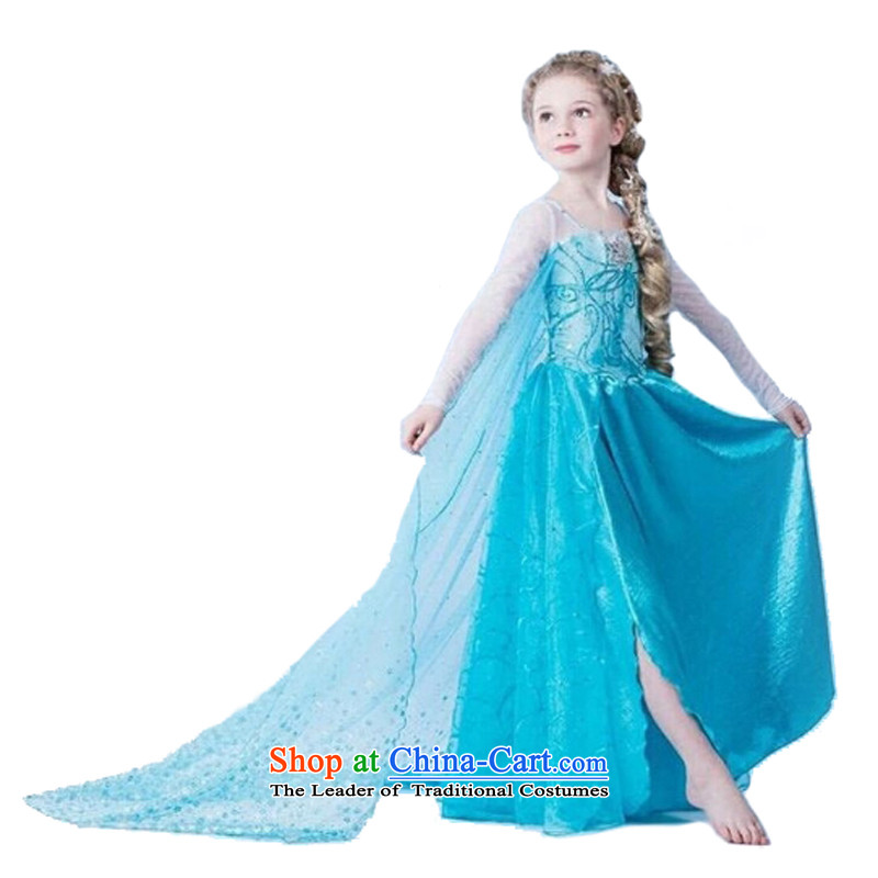 Adjustable leather case package princess skirt queen skirt children's entertainment聽140cm, blue leather-dress package has been pressed shopping on the Internet