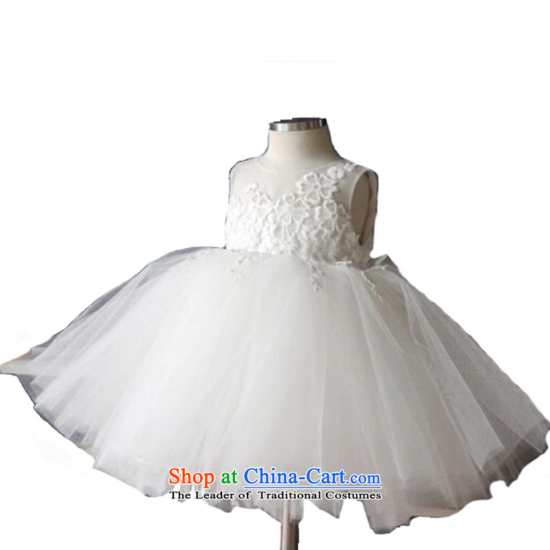 Adjustable leather case package children wedding dress Princess Flower Girls will dress Flower Girls wedding dresses flower girl babies skirt white聽140cm