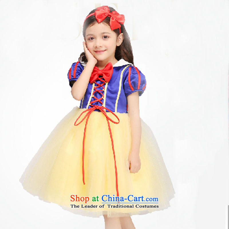 Adjustable leather case package of children's wear girls dresses Snow White Dress children dress dress bon bon skirt princess skirt picture color聽150cm