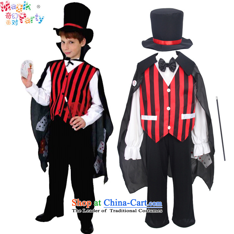 Fantasy to celebrate Children's Day to send the boy costumes masquerade costumes CHILD PHOTOGRAPHY Services Role Play magician costumes magician聽125cm7-8 small code