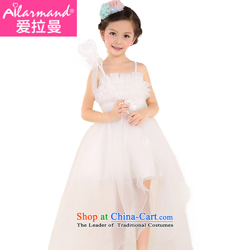 M Chor girls princess skirt children small wedding birthday performances bon bon skirt girls dress White100