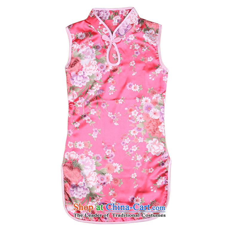 Pure cotton summer children girls saika cheongsam dress your baby Tang dynasty infant small cheongsam will be red140 4,657 monthly