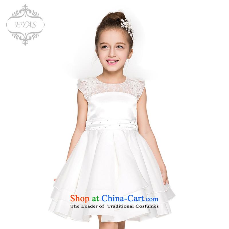 Eyas children wedding bon bon skirt birthday girl Flower Girls white wedding dresses 61 dance performances to White150