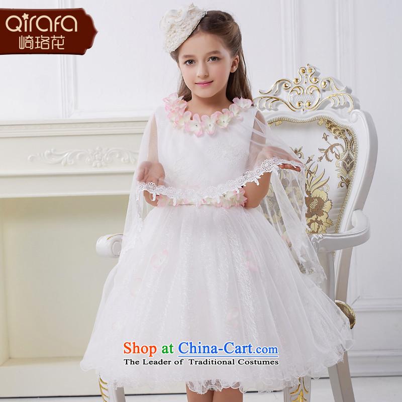 Kawasaki Judy flower QIRAFA girls wedding dress girls dress skirt princess skirt girls dress girls princess skirt 5056 m White140 code