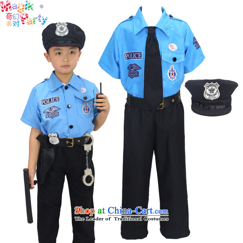 Fantasy party in celebration of the boy costumes photography services parental game services birthday gift boy children uniform police uniform police services - props 105cm3-4 code