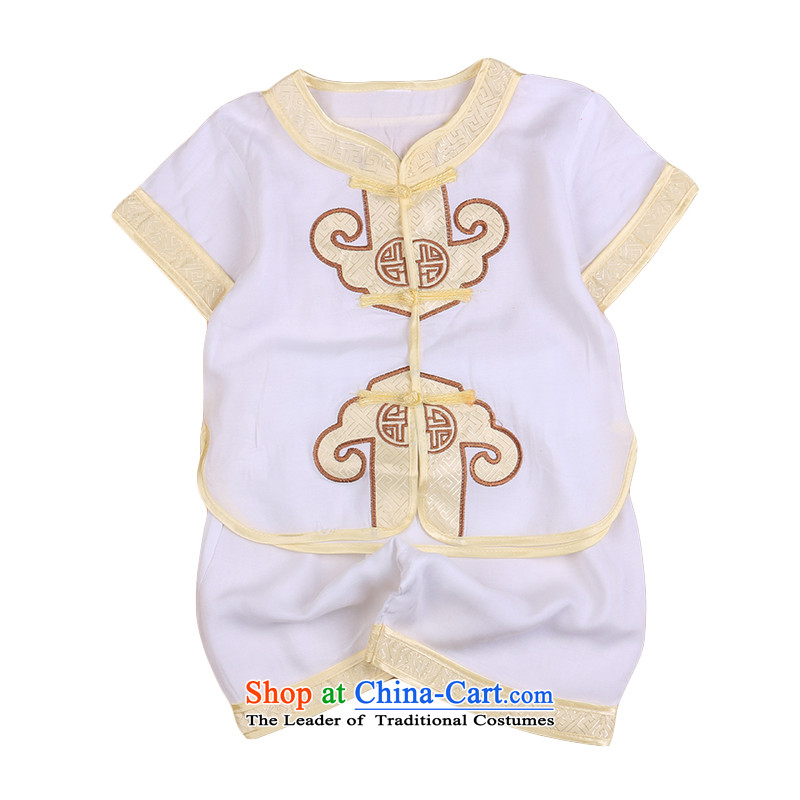 2015 new baby boy who Tang Dynasty Tang dynasty baby gifts for summer children of ethnic Chinese clothing kit white110 Bunnies Dodo xiaotuduoduo) , , , shopping on the Internet