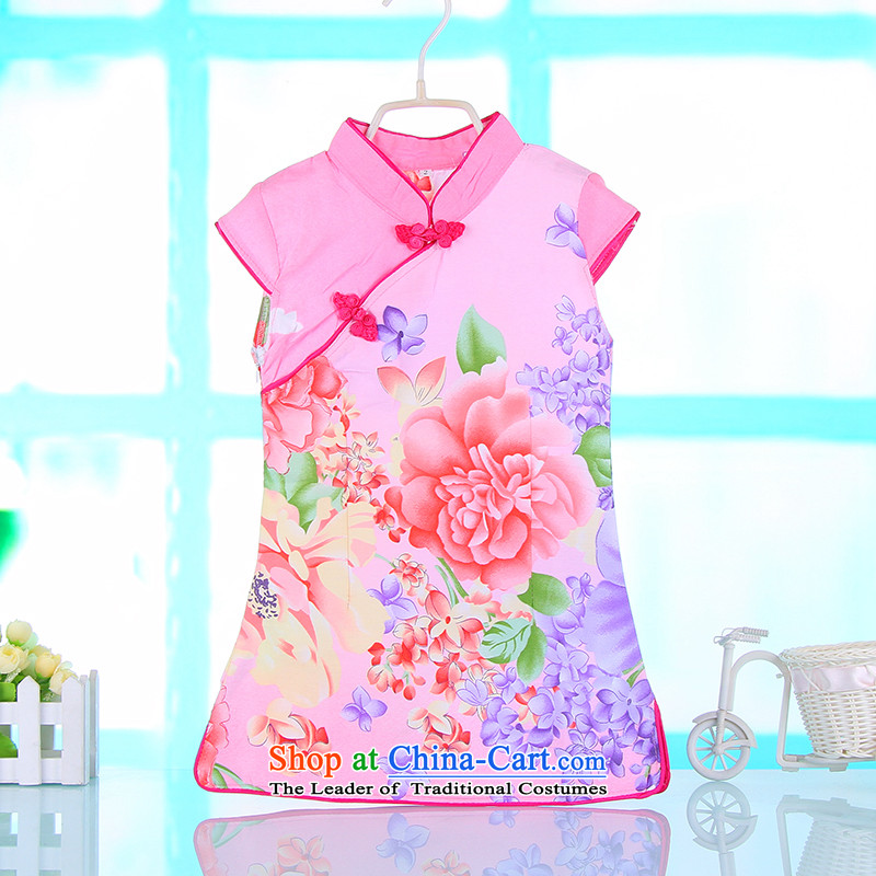 The point and girls' performance skirts qipao CUHK porcelain princess skirt children under the auspices of Tang Dynasty dress skirt new pink 80