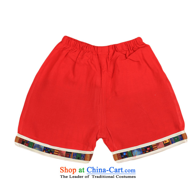 2015 New Child Tang Dynasty Chinese baby boy Tang dynasty short-sleeved Tang casual ethnic summer our 4676th red 110 pictures, prices, brand platters! The elections are supplied in the national character of distribution, so action, buy now enjoy more preferential! As soon as possible.