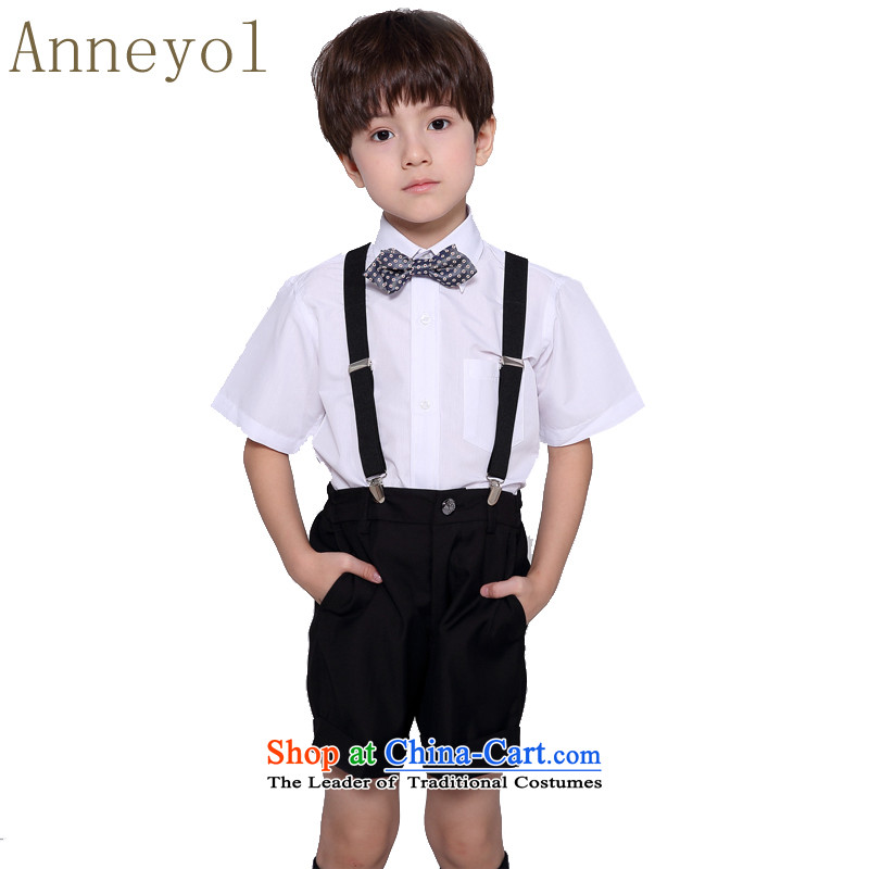 Children's dress boy dress kit baby children shirts trousers boy short kit dress strap kit white shirt + black shorts + strap + Angle collar聽90 code recommendations 80 to 90 High