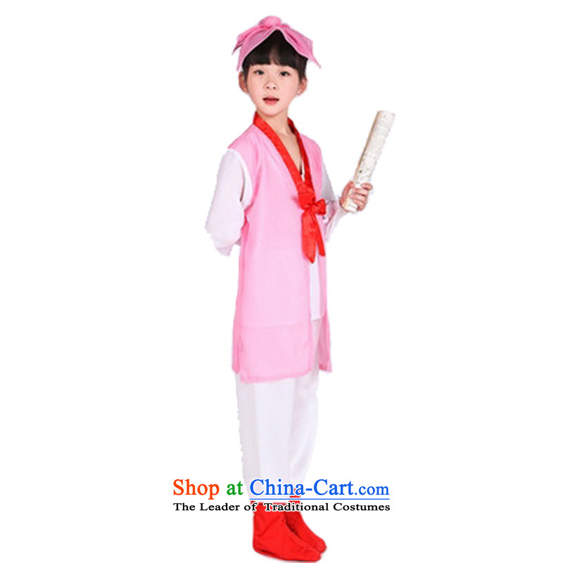 Adjustable leather case package for children's Ancient Shu Tong Service Han-field disciples regulation are costumes pink160cm
