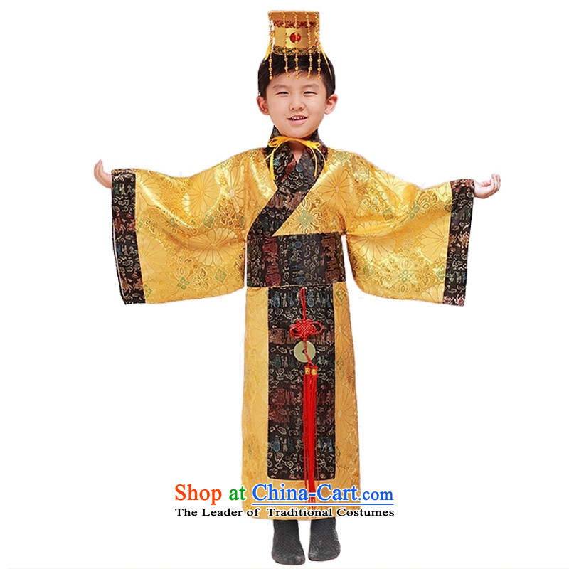Adjustable Eccentric mixture Han-leather case package children emperors costume ancient will serve Prince Edward聽150cm聽tall 140-150cm recommendations