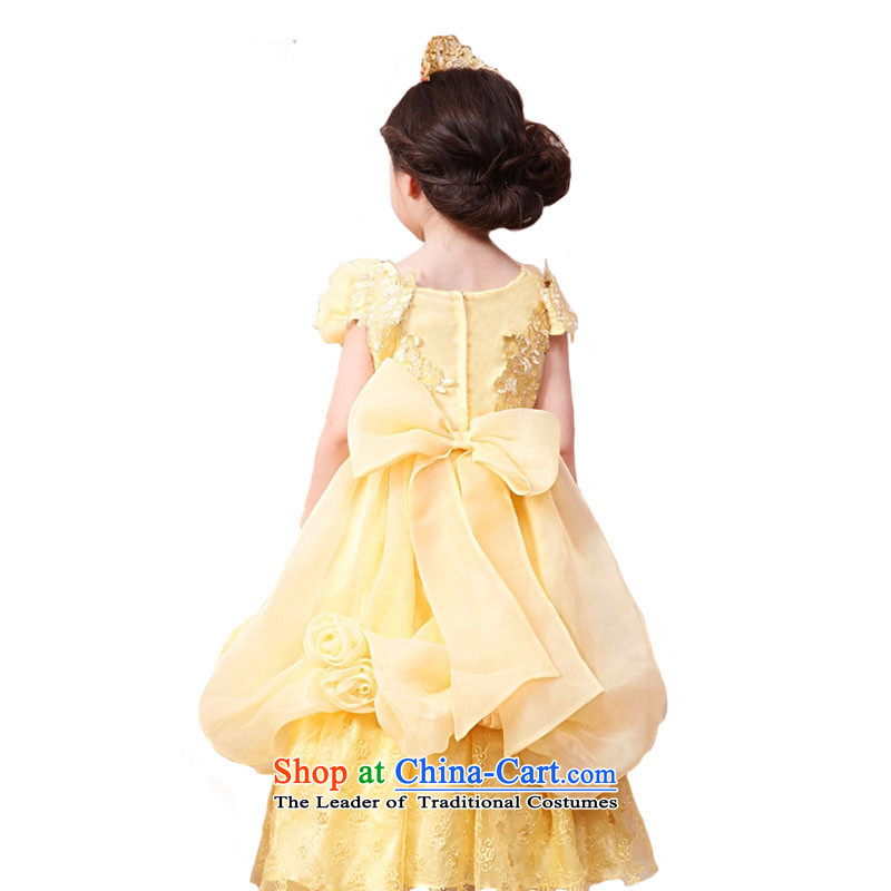 Adjustable leather case package girls dress skirt Princess Services Cinderella dress snow white yellow聽leather package has been pressed to 150cm, shopping on the Internet