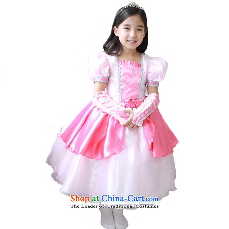 Adjustable leather case package pink dresses skirts children birthday dress children princess skirt bon bon skirt pink150cm