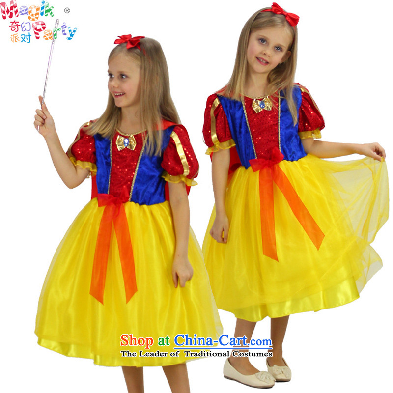 One of the parties, the Bangwei girls costumes birthday dresses Dress Photography fairy skirt Snow White Snow white apron skirt?130cm9-10 code