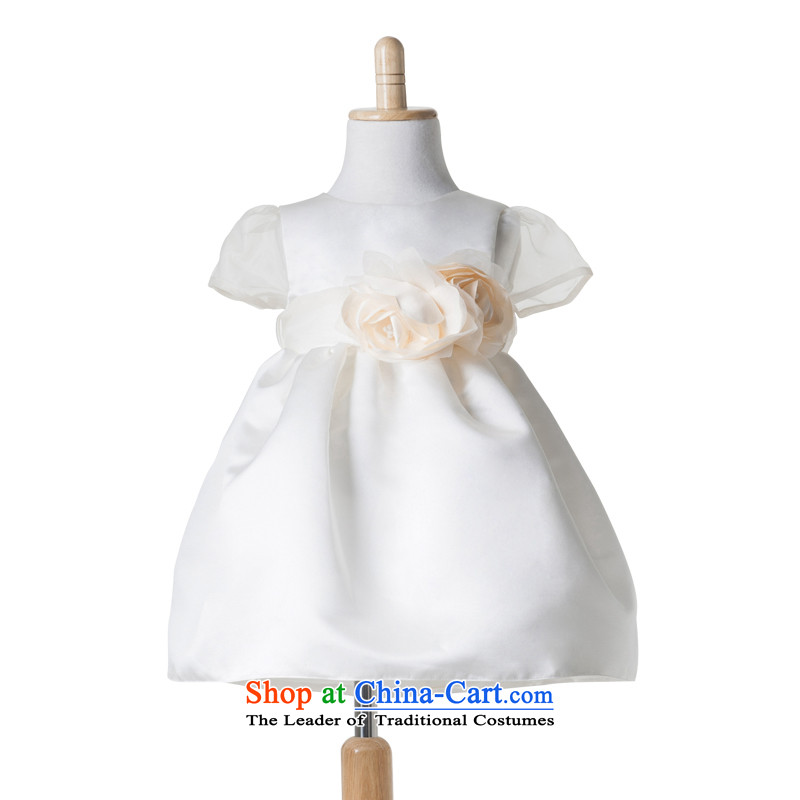 Po Jasmine children dress girls princess skirt services will show the summer bon bon skirt Flower Girls wedding dress custom ivory 140 - chest 74 Custom)