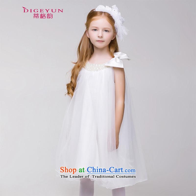 The following children and of children's wear dresses princess skirt children will Mr Ronald children wedding dress bon bon Flower Girls short skirts White聽140