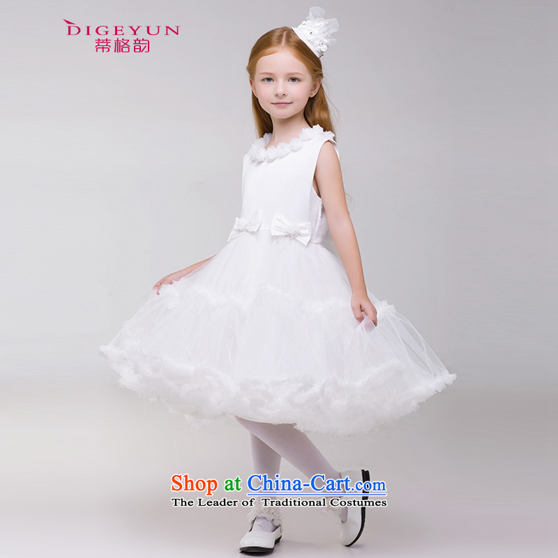 The following 61 children dress Flower Girls bon bon skirt children wedding dresses girls princess skirt 2015 Summer White 150